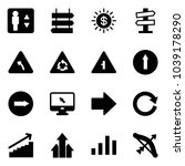 solid vector icon set  ... | Shutterstock .eps vector #1039178290