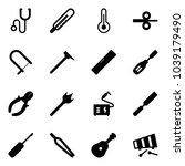 solid vector icon set  ... | Shutterstock .eps vector #1039179490