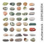 sea stones isolated on the white   Shutterstock . vector #1039180354