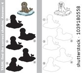 walrus to find the correct... | Shutterstock .eps vector #1039180558