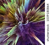 abstract colorful explosion... | Shutterstock . vector #1039180864