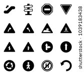 solid vector icon set  ... | Shutterstock .eps vector #1039183438