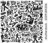 rap music   hip hop culture... | Shutterstock .eps vector #1039184206