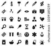 flat vector icon set  ...   Shutterstock .eps vector #1039185259