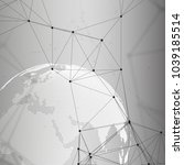 abstract futuristic network... | Shutterstock . vector #1039185514