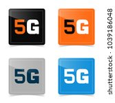 web icons of 5g technology.... | Shutterstock .eps vector #1039186048