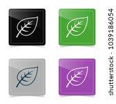 web design of leaf icon. vector ... | Shutterstock .eps vector #1039186054