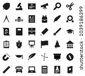 flat vector icon set   copybook ... | Shutterstock .eps vector #1039186399