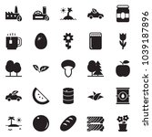 solid black vector icon set  ... | Shutterstock .eps vector #1039187896