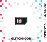 sim card  glitch effect vector...