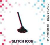mop  glitch effect vector icon. ... | Shutterstock .eps vector #1039191430