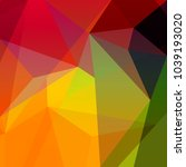abstract low poly design with... | Shutterstock . vector #1039193020
