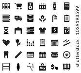 flat vector icon set   house... | Shutterstock .eps vector #1039193599