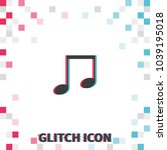music note  glitch effect... | Shutterstock .eps vector #1039195018