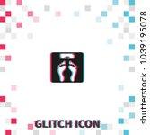 weighting  glitch effect vector ...   Shutterstock .eps vector #1039195078