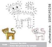 jaguar. dot to dot educational...   Shutterstock .eps vector #1039195258