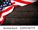 usa flag on wood background | Shutterstock . vector #1039196779