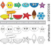 funny shapes set to find the... | Shutterstock .eps vector #1039205338
