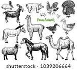 farm cute animal big set....   Shutterstock .eps vector #1039206664