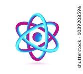 3d atom isolated on white...   Shutterstock .eps vector #1039208596
