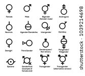 gender symbols. vector | Shutterstock .eps vector #1039214698