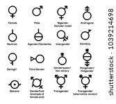 gender symbols. vector   Shutterstock .eps vector #1039214698