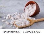 composition of sea salt in... | Shutterstock . vector #1039215739