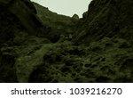 martian landscape of a lost wadi | Shutterstock . vector #1039216270