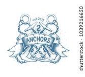careless shabby emblem  tattoo...   Shutterstock .eps vector #1039216630