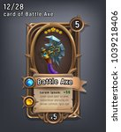 card of fantasy battle axe... | Shutterstock .eps vector #1039218406