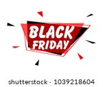 black friday  sign with red...   Shutterstock .eps vector #1039218604