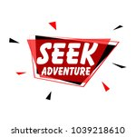 seek adventure  sign with red... | Shutterstock .eps vector #1039218610