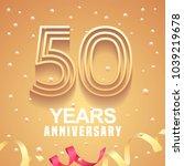 50 years anniversary vector... | Shutterstock .eps vector #1039219678