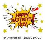happy women's day  sign with... | Shutterstock .eps vector #1039219720