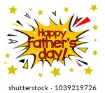 happy father's day  sign with... | Shutterstock .eps vector #1039219726