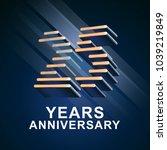25 years anniversary vector... | Shutterstock .eps vector #1039219849
