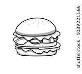 hamburger. food icon. black and ...