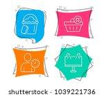 set of delete order  time... | Shutterstock .eps vector #1039221736