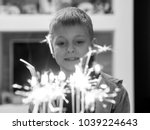 10 year old caucasian boy... | Shutterstock . vector #1039224643