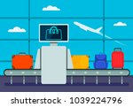 conveyor belt transport safety... | Shutterstock .eps vector #1039224796