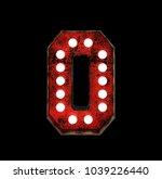 number 0. broadway style light... | Shutterstock . vector #1039226440