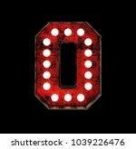 letter o. broadway style light... | Shutterstock . vector #1039226476