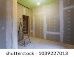 ladder and room interior with... | Shutterstock . vector #1039227013