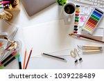 conceptual image of artist... | Shutterstock . vector #1039228489