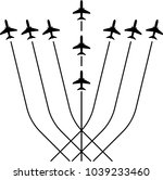 airplane flying formation  air...   Shutterstock .eps vector #1039233460
