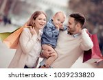sale consumerism and family... | Shutterstock . vector #1039233820