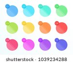 numbered flat circle text boxes ... | Shutterstock .eps vector #1039234288