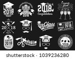 set of vector class of 2018... | Shutterstock .eps vector #1039236280