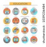 education. set of vector  flat... | Shutterstock .eps vector #1039236484