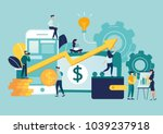 vector illustration of virtual... | Shutterstock .eps vector #1039237918